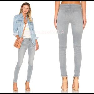 Agolde High Waisted skinny light grey jeans in 24